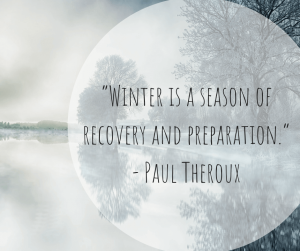 Winter Quotation by Paul Theroux