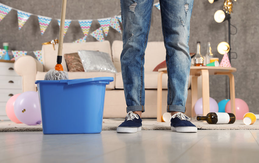 After Party House Cleaning Tips